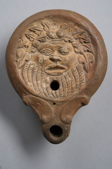 Lamp With Wreathed Silenus Johns Hopkins Archaeological