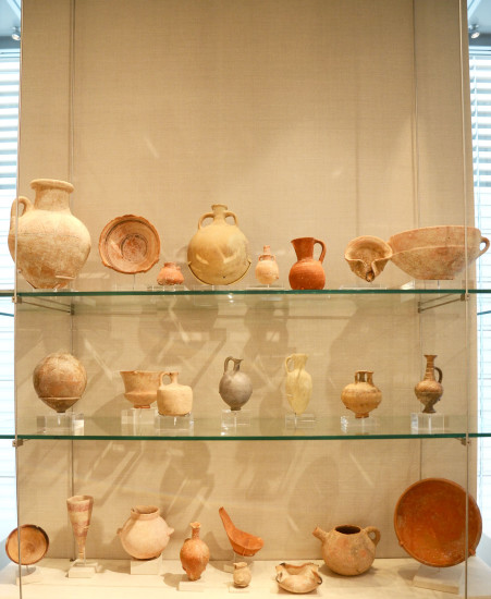 The objects on display at the museum.