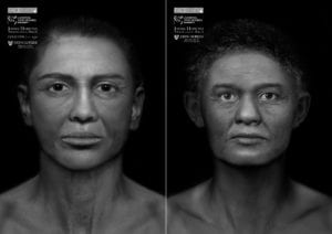 Depictions of the Goucher Mummy (L) and the Cohen Mummy (R)