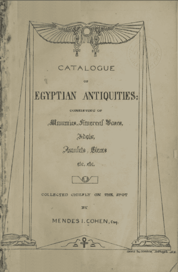Title page of the Cohen Catalog. Image courtesy of Special Collections, The Sheridan Libraries, Johns Hopkins University.