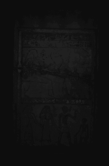 The glow of tiny Egyptian blue particles was only seen in the three registers of text on the stela during visible infrared luminescence imaging.
