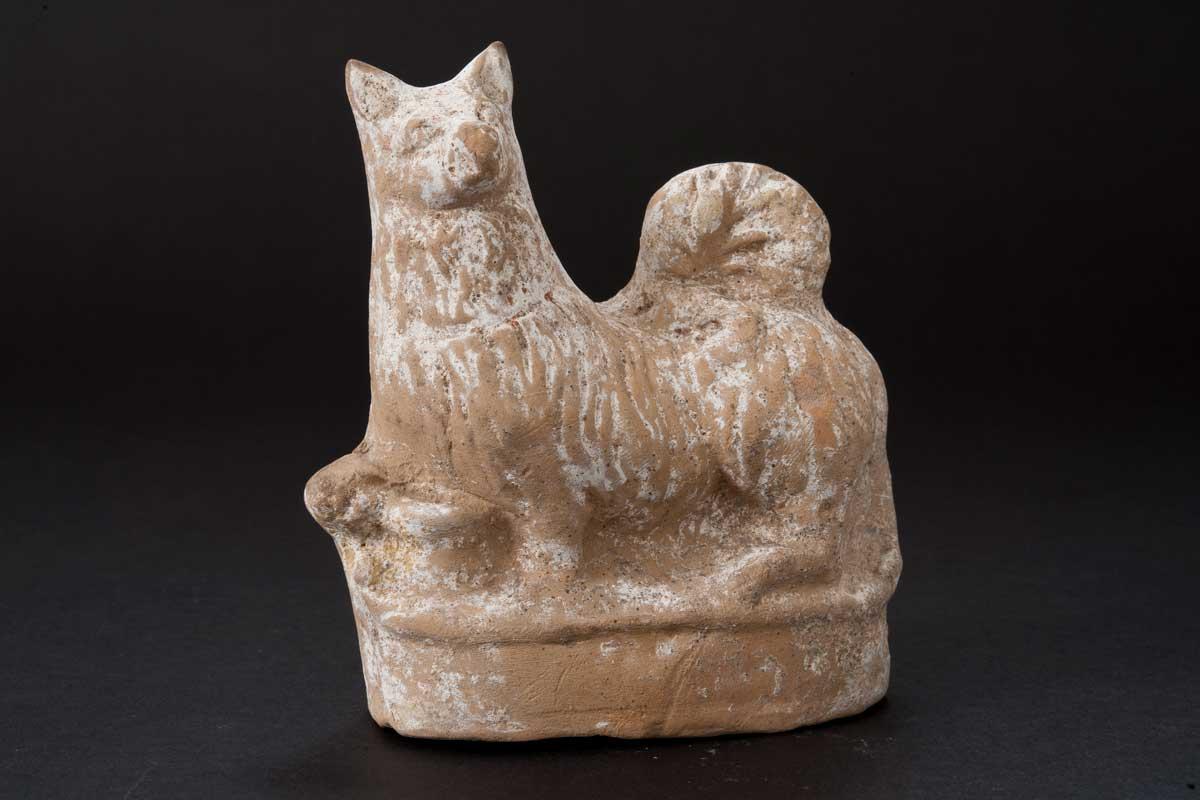 Terracotta Dog Rattle