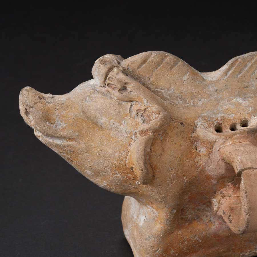 Terracotta Boar Rattle