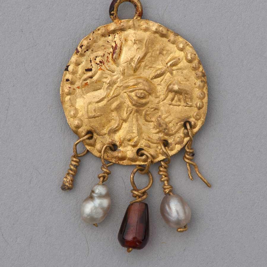 Gold Amulet Pendant